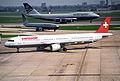 Swissair Airbus A321-111; HB-IOF@LHR;13.04.1996 (4905929959).jpg