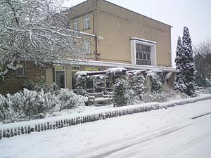 Stanmore and Canons Park Synagogue - Stanmore and Canons Park Synagogue in winter.