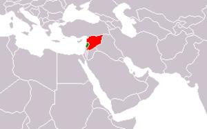 Lebanon–Syria border - Image: Syria Lebanon Locator