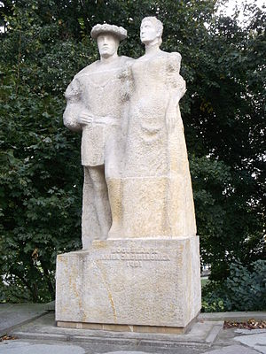 Anna Jagiellon, Duchess of Pomerania - Monument of Bogislaw X and Anna. Ducal Castle, Szczecin.