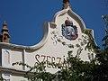 Szekszard old coat of arms on Szegzard Hotel, 2016 Szekszard.jpg