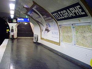 Télégraphe (Paris Métro) - Image: Télégraphe métro 02