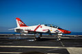 T-45C of VT-9 landing on USS John C. Stennis (CVN-74) in January 2015.JPG