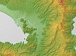 Tagata Plain Relief Map, SRTM-1.jpg