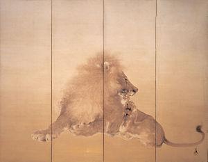 Takeuchi Seihō - Lion (1901)