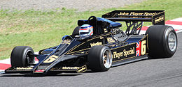 Takuma Sato demonstrating Lotus 78 2010 Japan.jpg