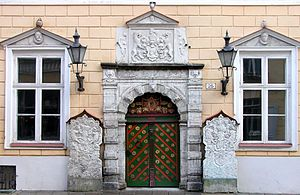 Brotherhood of Blackheads - Facade of the House of Blackheads in Tallinn by Arent Passer.