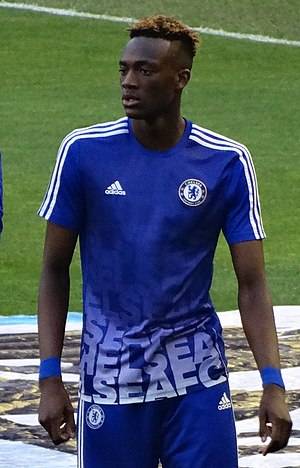 Tammy Abraham - Abraham warming up for Chelsea in 2016