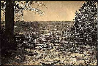 "Battle of Peachtree Creek - ""Few battlefields of the war have been strewn so thickly with dead and wounded as they lay that evening around Collier's Mill."" (Union Major Gen. J. D. Cox)"