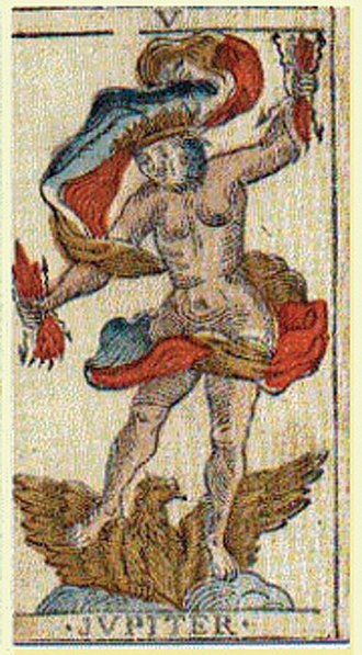 Tarot of Marseilles - Jupiter