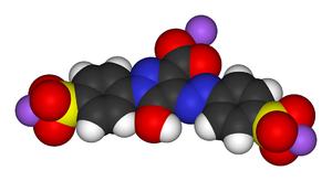 Tartrazine - Image: Tartrazine 3D vd W