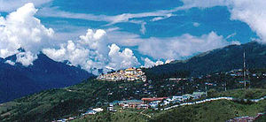 Tawang - Tawang with Tawang Monastery in background