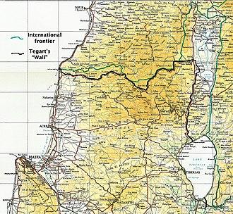"""Tegart's Wall - """"Tegart's Wall"""", Palestine 1938–1940"""