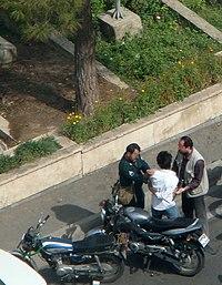 Tehran Basiji Policeman Arrest