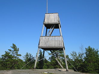 Telegrafberget, Tyresö - The watchtower on the top of Telegrafberget.
