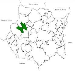 Vị trí của đô thị trong bang Morelos