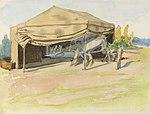 Temporary Canvas Hangar for a Biplane, Italy, 1918 Art.IWMART4542.jpg