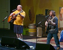 Tenacious D performing during their 2006–2007 tour