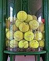 Tennis balls recycling Highgate Cricket Club, Crouch End, London.jpg