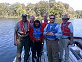 Terri Sewell touring the Alabama River with Army Corps of Engineers officials.jpg