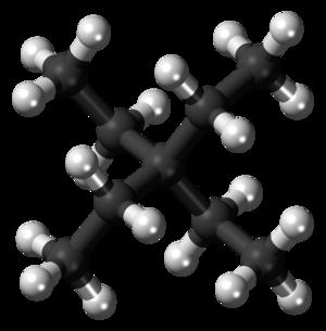 Tetraethylmethane - Image: Tetraethylmethane 3D balls