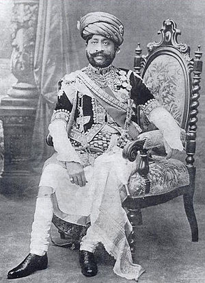 Morvi State - Picture of the Maharaja Thakur Sahib of Morvi Sir Waghji II Rawaji (1858 - 1922).