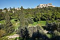 The Acropolis of Athens, the Areopagus and Stenopos Kollytos from the Pnyx on March 14, 2020.jpg
