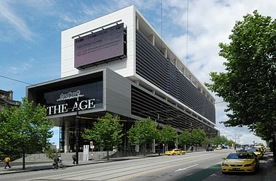 Headquarters of The Age daily newspaper published in Melbournesince 1854.