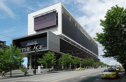 Current headquarters in Collins Street, completed 2009 The Age Collins St 2010.jpg