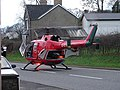The Air Ambulance lands on the A44 - geograph.org.uk - 466462.jpg