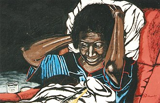 "Larry D. Alexander - ""Aunt Eira Mae"", an Acrylic painting by Larry D. Alexander - The African American Museum (Dallas, Texas) - 2004"