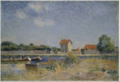 The Banks of the Canal du Loing at Saint-Mammès .PNG
