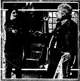 The Battle of Hearts - Scene from the film, from a contemporary newspaper.