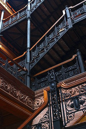 Blade Runner - The Bradbury Building in Los Angeles was a filming location.