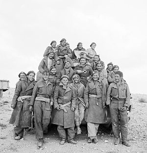 Royal Tank Regiment - Men of the Royal Tank Regiment in North Africa, 1941.