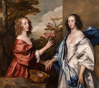 Thomas Cheek - The Cheeke girls, Essex and Anne, painted by Van Dyck