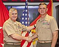The Deputy Commandant for Programs and Resources, U.S. Marine Lt. Gen. Glenn M. Walters, left, congratulates Brig. Gen. John M. Jansen after promoting him to his current rank during a ceremony at the Pentagon 130719-M-KS211-016.jpg