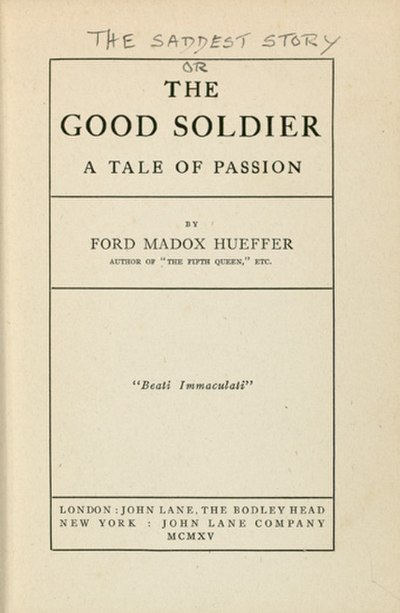 Picture of a book: The Good Soldier