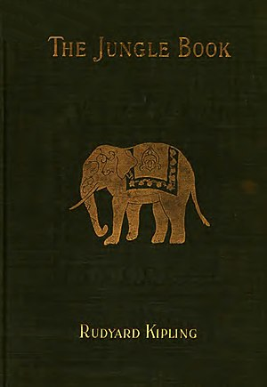 "Front cover of 1894 edition of ""The Jungle Book"" published by The Century Co."