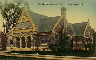 Woodstock, Vermont - The Norman Williams Public Library c. 1910, built in 1883-1884