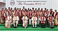 The President, Shri Pranab Mukherjee in a group photograph, at the first convocation of the English & Foreign Languages University, in Hyderabad.jpg