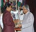 The President Dr. A.P.J. Abdul Kalam presenting the Arjuna Award -2005 to Ms. Dola Banerjee for Archery, at a glittering function in New Delhi on August 29, 2006.jpg