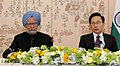 The Prime Minister, Dr. Manmohan Singh with the South Korean President, Mr. Lee Myung-bak, at a Joint Press Statement, in Seoul on March 25, 2012.jpg