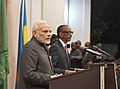 The Prime Minister, Shri Narendra Modi and the President of Rwanda, Mr. Paul Kagame at the Joint Press Statements, at Kigali, Rwanda on July 23, 2018 (1).JPG