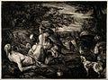 The good samaritan seeing to an unfortunate man's (Christ?) Wellcome V0015237.jpg