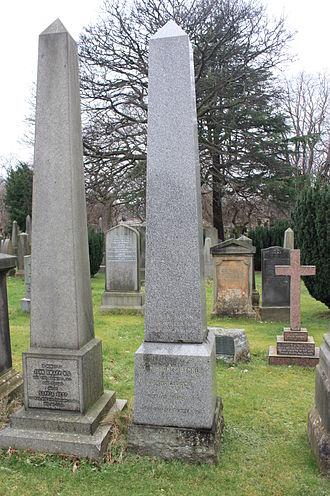 John Hughes Bennett - The grave of John Hughes Bennett (right), Dean Cemetery