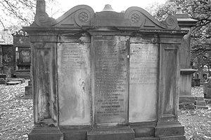 William Home Lizars - The grave of William Home Lizars, St Cuthberts, Edinburgh