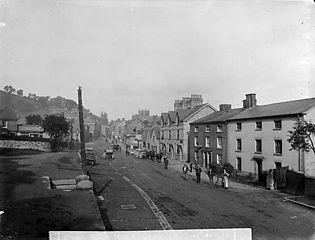 The high street, Llanfyllin