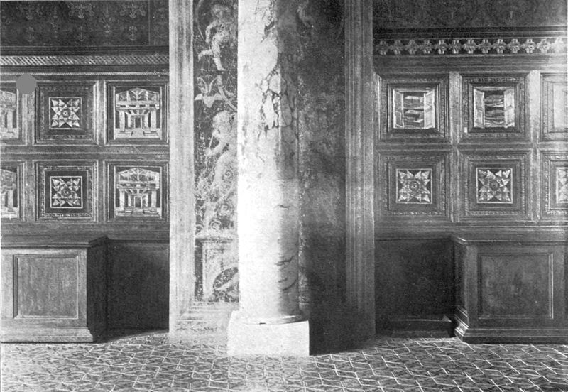 Fig. 8.  The library-settles (spalliere) once used in the Vatican Library of Sixtus IV