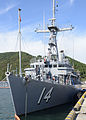 The mine countermeasures ship USS Chief (MCM 14) is moored to a pier at Naval Operations Base Chinhae, South Korea, Oct. 19, 2014, in preparation for exercise Clear Horizon 2014 141019-N-UH865-005.jpg